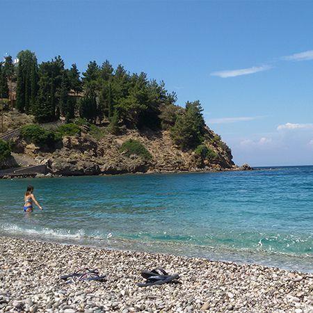 Η παραλία του Ναγου στην Βόρεια Χίο